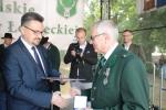 Medale województwa lubelskiego oraz okolicznościowe dyplomy wręczał zasłużonym myśliwym i kołom łowieckim dyrektor Departamentu Rolnictwa i Środowiska UMWL Sławomir Struski