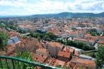 Widok na Graz ze wzgórza zamkowego