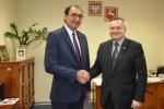 Spotkanie Wicemarszałka Województwa Lubelskiego, Zbigniewa Wojciechowskiego z Pełnomocnikiem Rządu Regionalnego Kurdystanu w Polsce Ziyadem Raoofem w UMWL