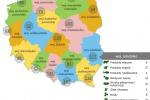 Lista Produktów Tradycyjnych wg województw (źródło: minrol.gov.pl)