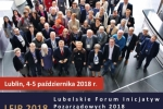 Plakat Lubelskie Forum Inicjatyw Pozarządowych 2018