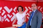 Z-ca dyr. Łukasz Gołąb i Magdalena Skwira na stoisku regionu lubelskiego