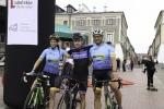 Reprezentanci Grecji Alexandra Petrogiannaki i Nikos Katrizidakis oraz w środku Greg Manset z Belgii
