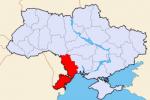 Obwód Odeski - mapa