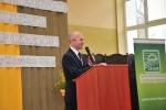 Wicemarszałek Trojak kieruje ciepłe słowa do organizatorów i finalistów olimpiady w Kijanach (© ZSR w Kijanach)