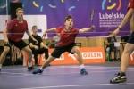 zawodnicy podczas meczu w badmintona podczas OOM