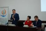 Konferencję w Chełmie prowadził wicemarszałek Krzysztof Grabczuk