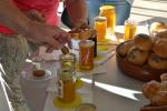 Degustacja produktów pszczelich.