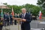 Przemawia przedstawiciel stowarzyszenia Żołnierzy Batalionów Chłopskich, Pana Edwarda Harasima
