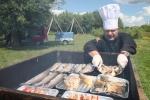 Ryby były wędzone na miejscu bezpośrednio przed degustacją