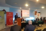 Spotkanie w Radzyniu Podlaskim otworzył wicemarszałek Kapusta. Obok siedzi Antoni Skrabucha, kierownik w Departamencie Rolnictwa i Środowiska, organizator szkoleń