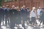 Uczestnicy przemarszu na plac Zamkowy